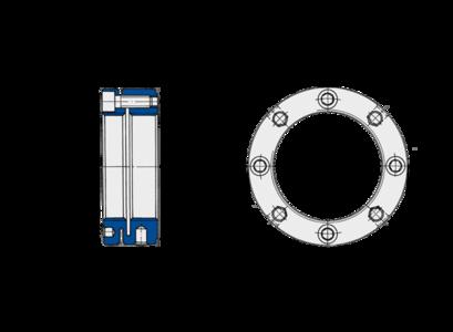 Stellmuttern der Baureihe MSA von Spieth sind besonders für die Montage von Schrägkugellagern und Zylinderrollenlagern (ISO-Durchmesserreihe 9) geeignet.