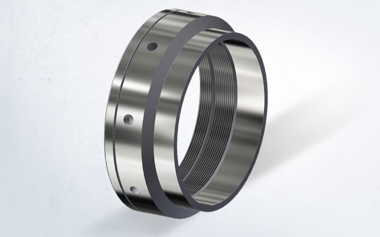 Locknuts with optimised geometry from Spieth are suitable for securing bearings in vertical drilling systems.
