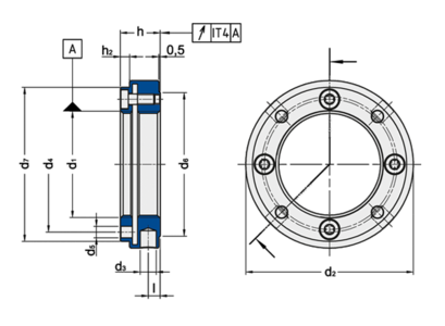 Spieth MSF series locknuts are suitable for applications with limited installation space.