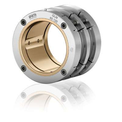 Radial plain bearings of the GLM series from Spieth have clearance-adjustable hydrodynamic multi-surface bearings.