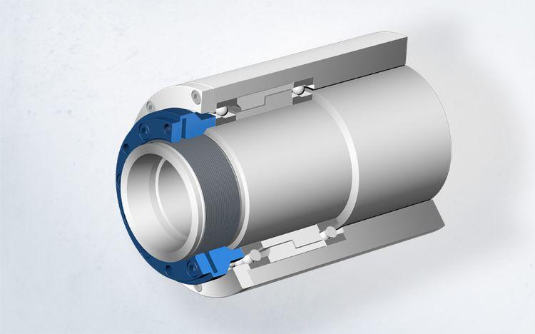 Die Spieth Sicherungsmutter bietet im Anwendungsbeispiel Motorspindel einen hohen Sicherungswert.