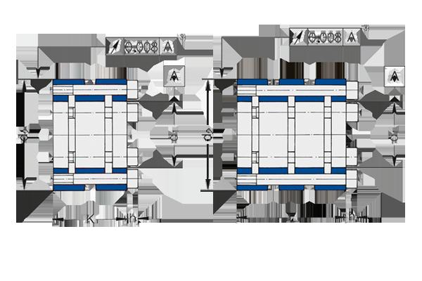 Spannsätze der Baureihe DSK/DSL von Spieth eignen sich für die Wellenpassung h5/h6 mit integrierten Spannschrauben.