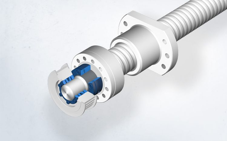 The Spieth locking system enables the precise adjustment of preload forces in the application example of a toothed belt drive ball screw.