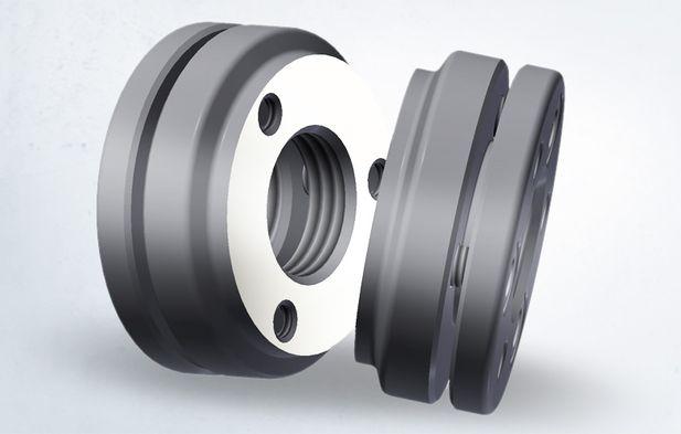 Präzisions-Stellmutter zur Spieleinstellung von Hochleistungs-Rotoren in Schraubenkompressoren