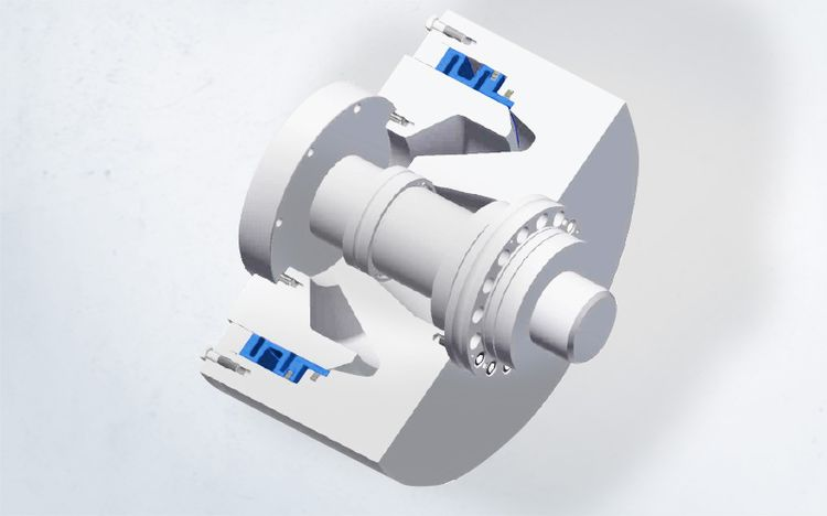 Clamping sets in special design from Spieth are suitable for clamping the rotary/swivel axis.